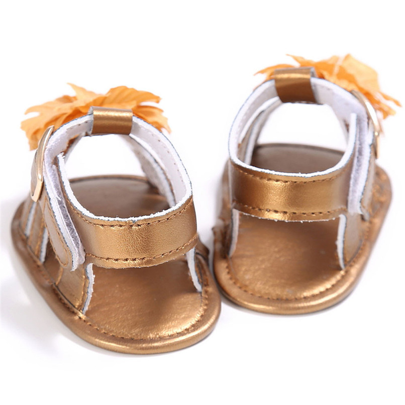 4 Color Summer Baby Shoes Toddler Girl Crib Shoes Newborn Flower Soft Sole Anti-slip First Walker NDA84L24 (9)