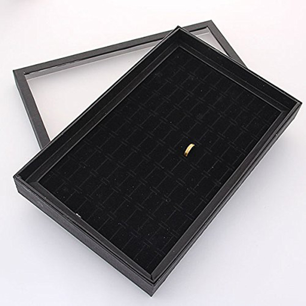 100 Slot Ear Studs Ring Storage Pin Show Box Organizer Holder Jewelry Display Case