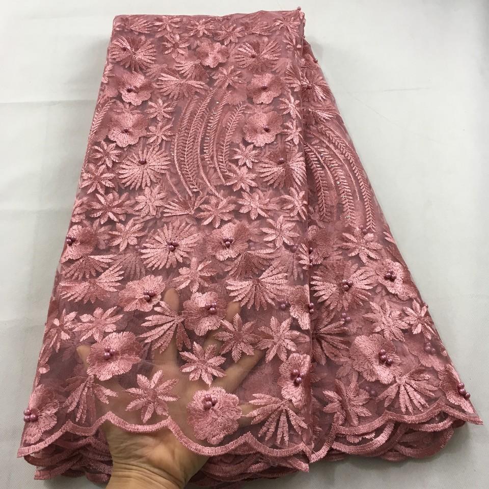 Королевский синий африканский кружевной ткани 2019 высокого качества кружева французская сетка ткани из бисера камни нигерийские швейцарские кружевные ткани для dressHX09
