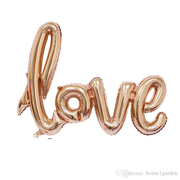 105*65 CM Decorative Aluminum Balloon LOVE Letter Valentine`s Day Propose Marriage Foil Balloons Wedding Conjoined Balloon