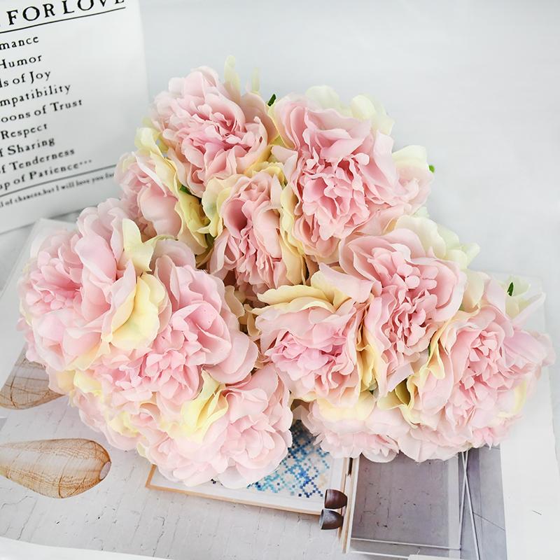 Artificial Artesanía Hortensia Ramo  flores Fiesta Boda Falso Bridal Flor Rosa