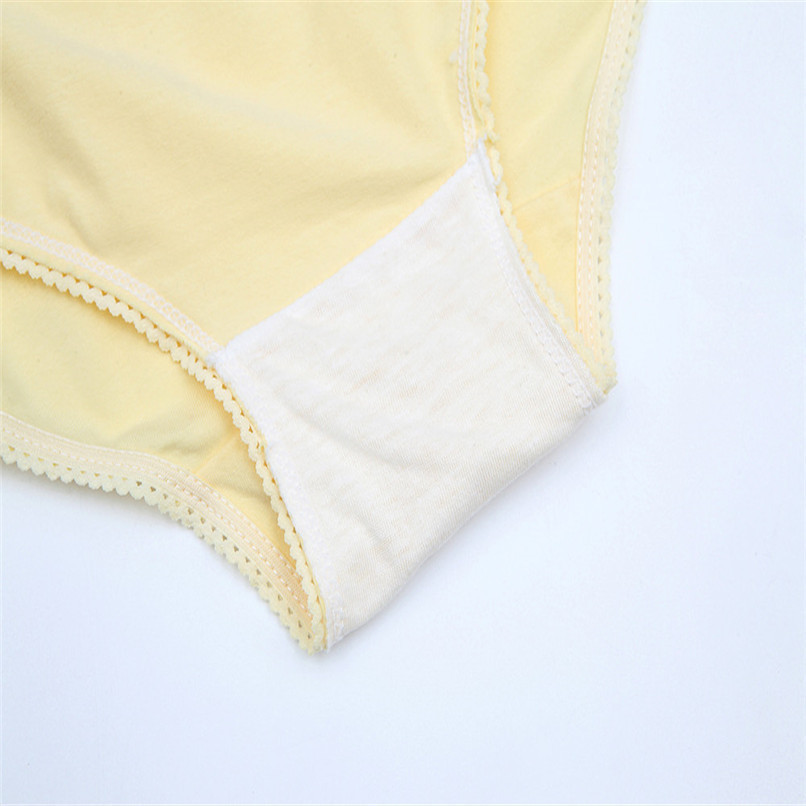 M-XXXL Pregnancy Maternity Clothes Cotton Women Pregnant Smile Printed High Waist Underwear Soft Care Underwear Clothes S14#F (30)