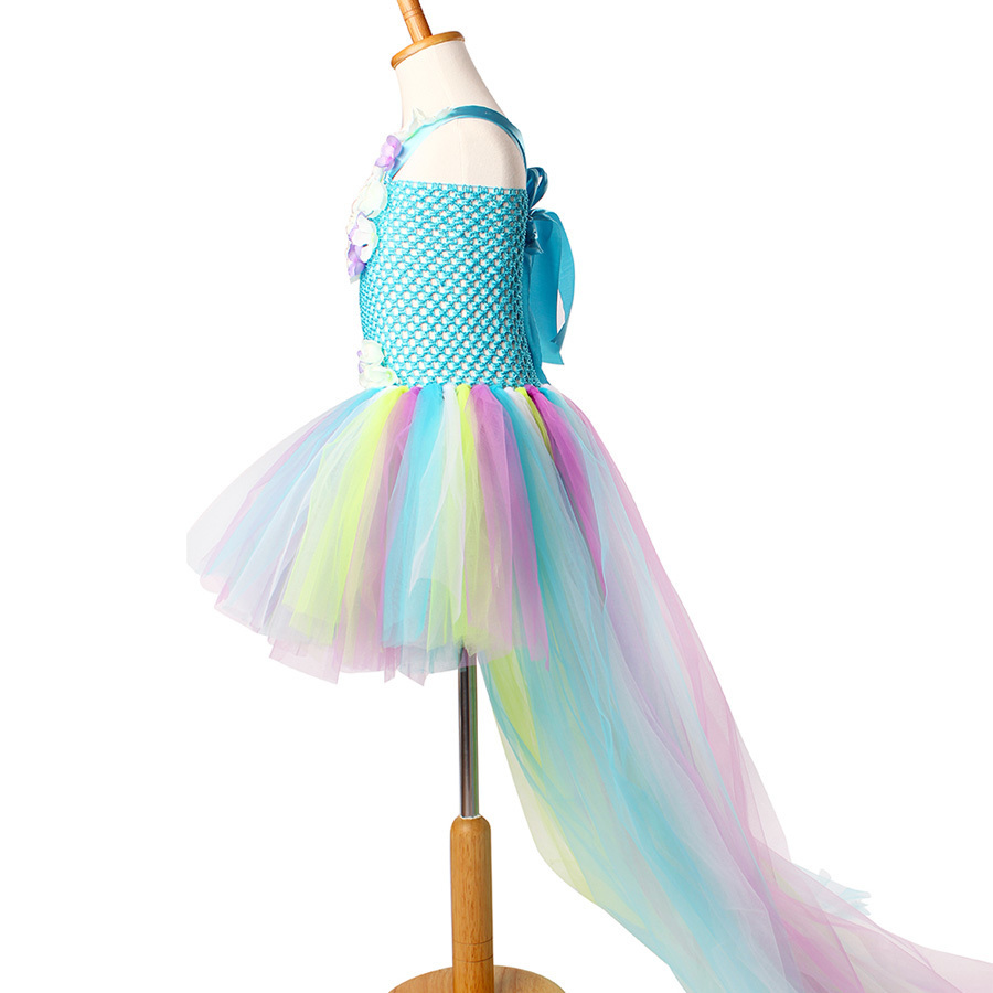 Exquisite Peacock Water Fairy Tutu Dress Girls Birthday Festival Party Pageant Costume Kids Teal Turquoise Purple Ball Gown Dress (5)