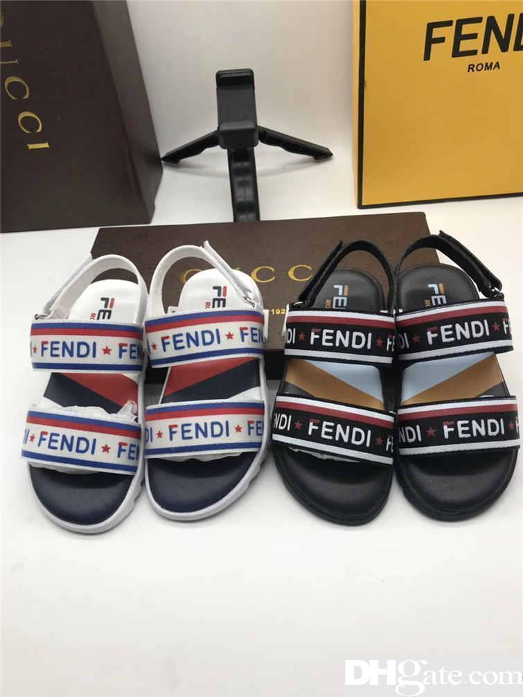 2019 Été Bébé chaussures Sandales Enfants Slippers lettre imprimée enfants sandales enfant garçon Chaussures Casual mode enfant chaussures MN-4