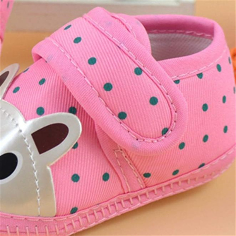 Newborn Girl Boy First Walker Soft Sole Crib Toddler Shoes Canvas Sneaker NDA84L16 (10)