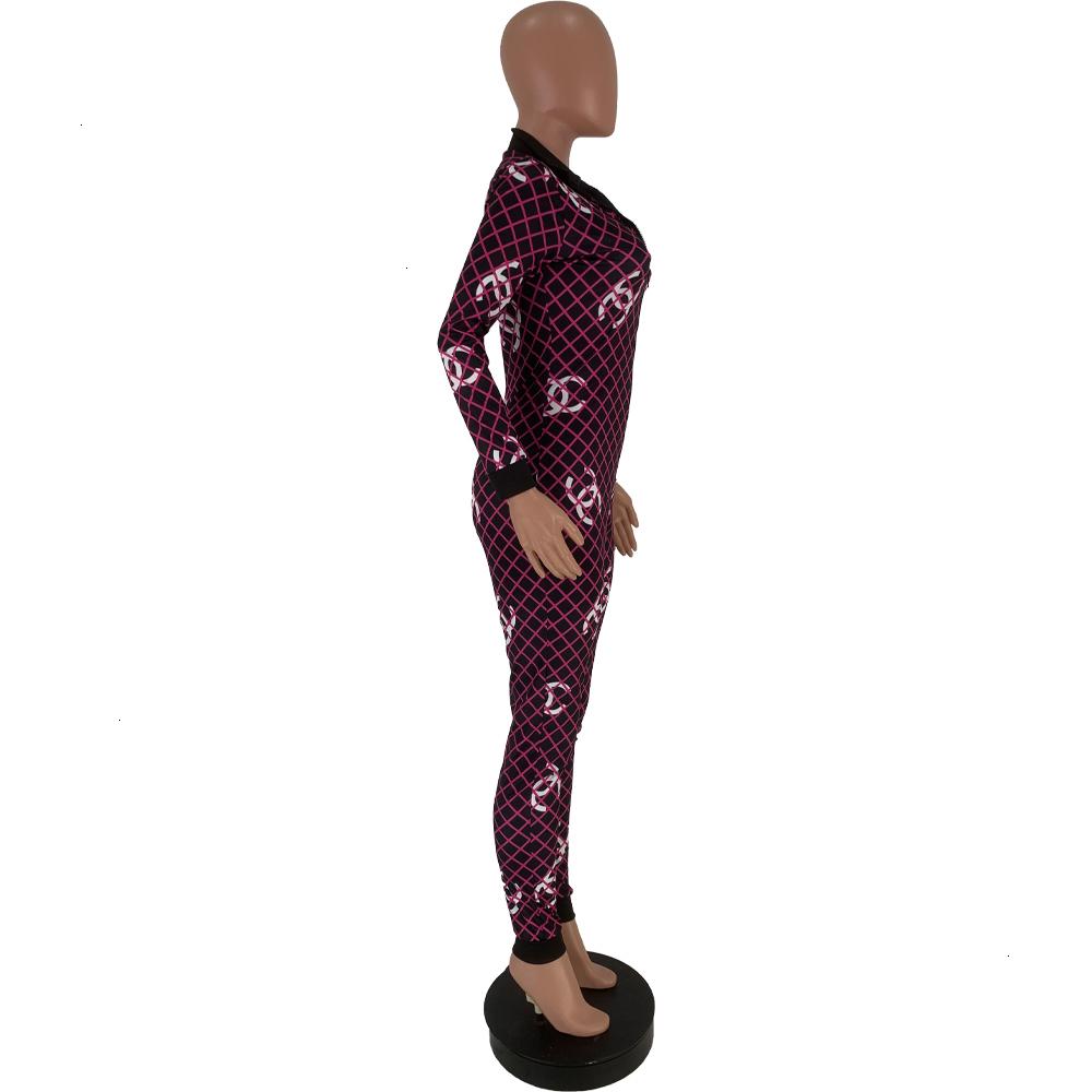 Diseñador de las mujeres del mono de los mamelucos de una pieza pantalones legging delgado atractivo Otoño Invierno Ropa para mujer S-XL C099