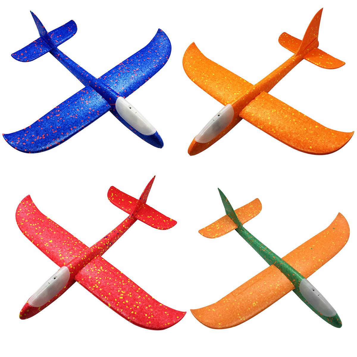 gioco giocattolo bambino Aereo aereoplanino gommapiuma luminoso lancio a mano