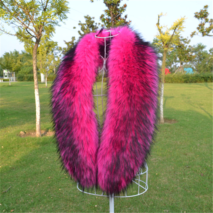 New lady Blinger long faux fur collar fake raccoon fur scarf warm winter fox fur shawl and wraps multicolors