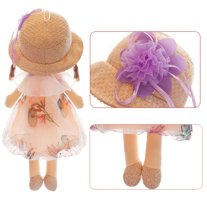 1pcs 40cm Plush Dolls Accompany Doll Toys Cute Cartoon Ragdoll Stuffed Flower Dress Girls Plush Rag Doll Toys for Children Gifts (9)
