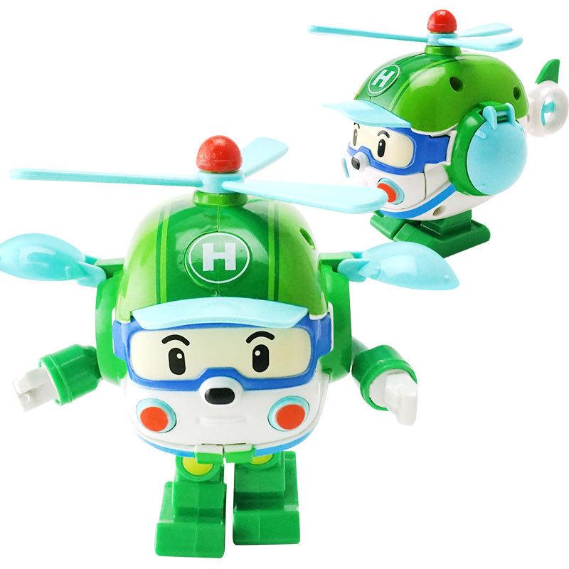4 pz / 6 pz Poli Robocar Corea Robot Bambini Trasformazione Anime Action Figure Super Ali Giocattoli Bambini Playmobil Juguetes J190513