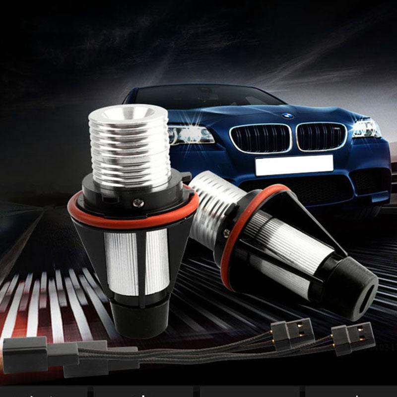 For BMW High Power 10W Total CREE LED Angel Eyes Halo Ring Bulbs E39 E60 USA