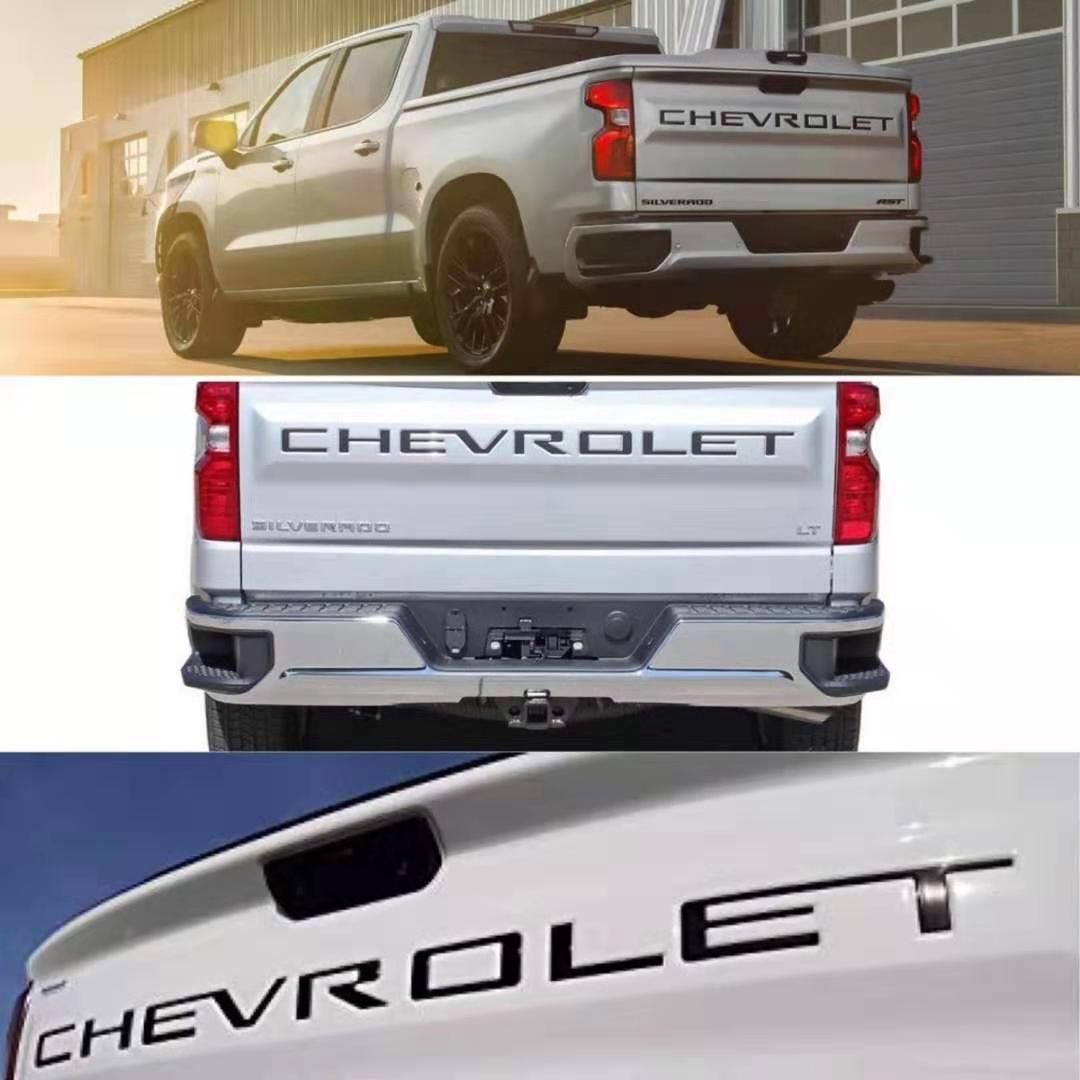 COLORADO EMBLEMS 3D Letters Nameplate Tailgate Door Badge For Chevy Gm Silverado Chevrolet Silver