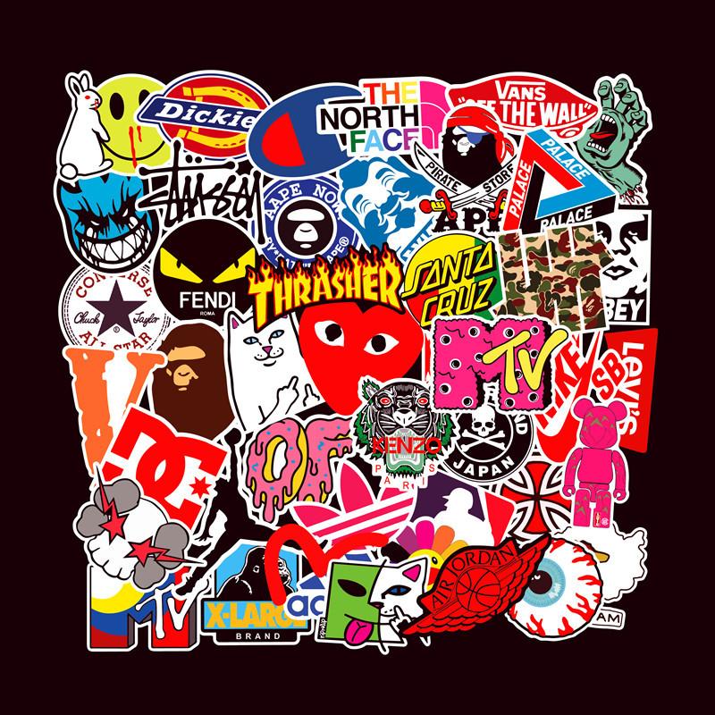 FEZZ 50pcs Graffiti Autocollants Mixte Licorne Dessin Anim/é /Étanche pour DIY Ordinateur Portable Macbook Voiture Moto V/élo Bagages Skateboard