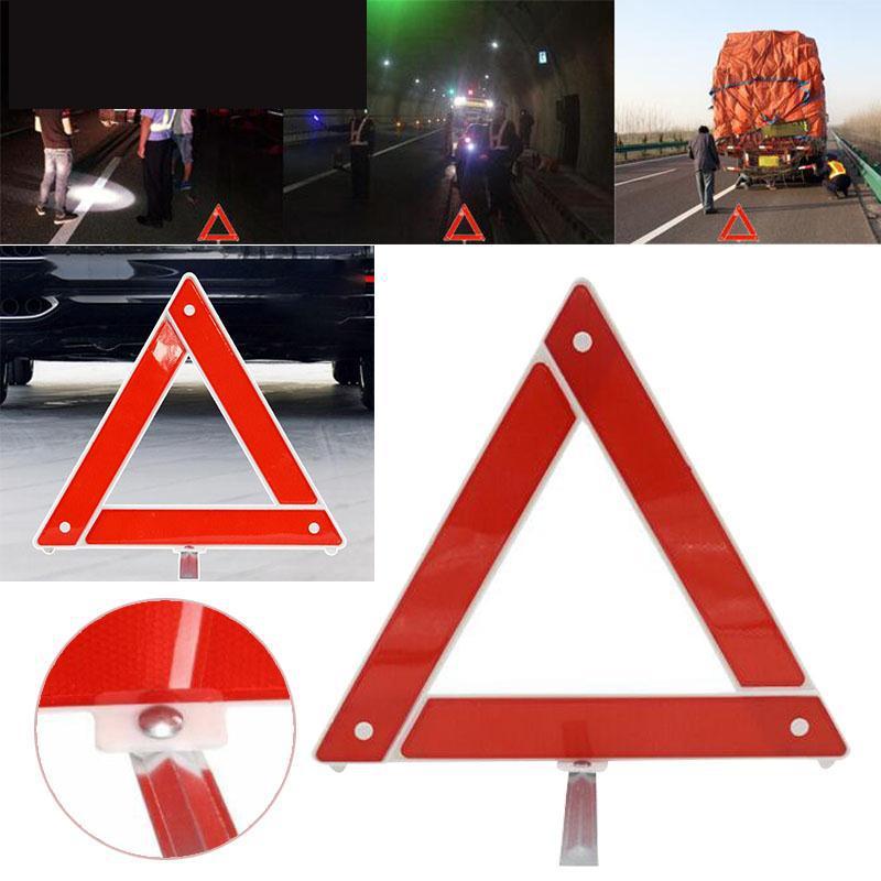 1pc s/écurit/é Triangle Kit route Avertissement durgence routi/ère r/éflecteur r/éfl/échissant signe dalerte pr/écoce Pliable durgence Kit voiture