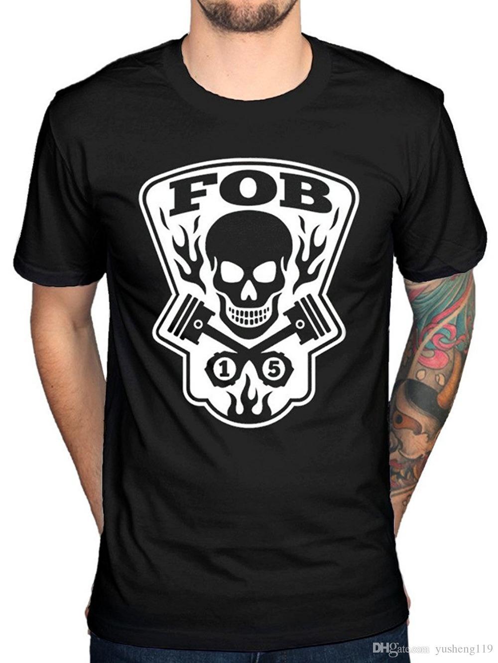 T Shirt Clothing Plus Size Men's Fall Out Boy Gear Head T-Shirt Rock American Beauty Band O-Neck Short Sleeve Christmas Shirt