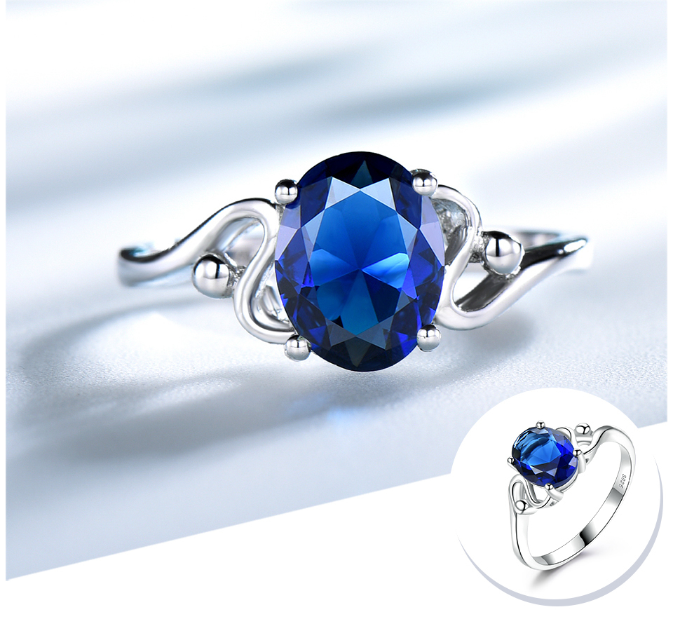 UMCHO Sapphire 925 sterling silver rings for women RUJ089S-1-PC (4)