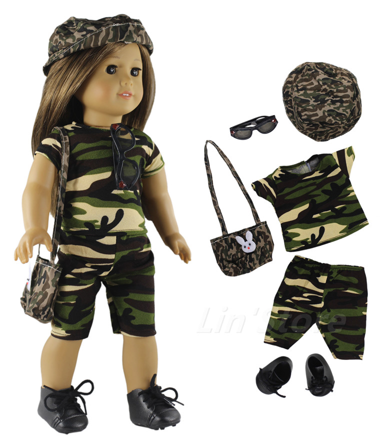 """**SALE** GREEN Canvas Tall Camo DOLL BOOTS SHOES fits 18/"""" AMERICAN GIRL DOLL"""