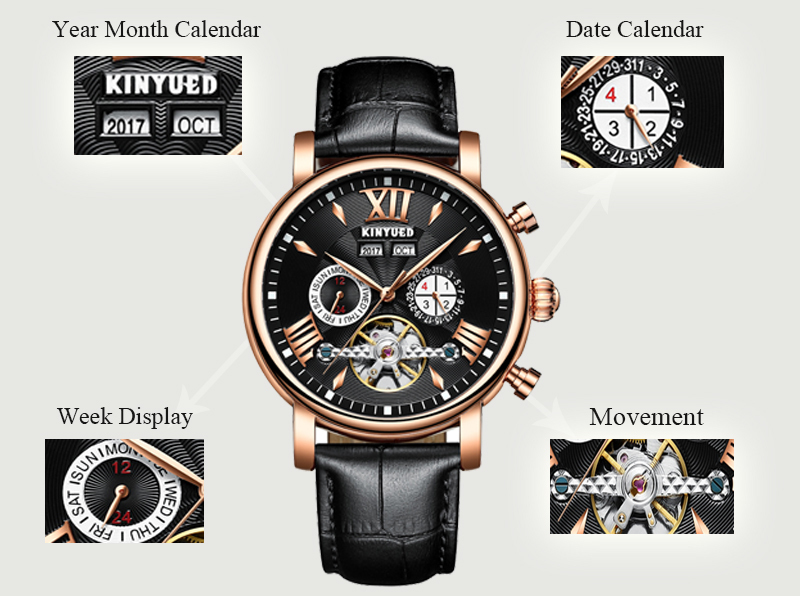 Precise Mechanical Automatic Mens Watch Flying Tourbillon Leather Waterpoof Business Watches Office Party Sport Daily Life Gift (8)