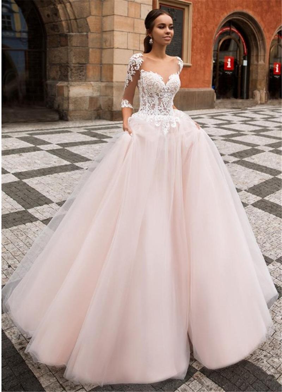Promotion Robe De Mariée Rose Pâle | Vente