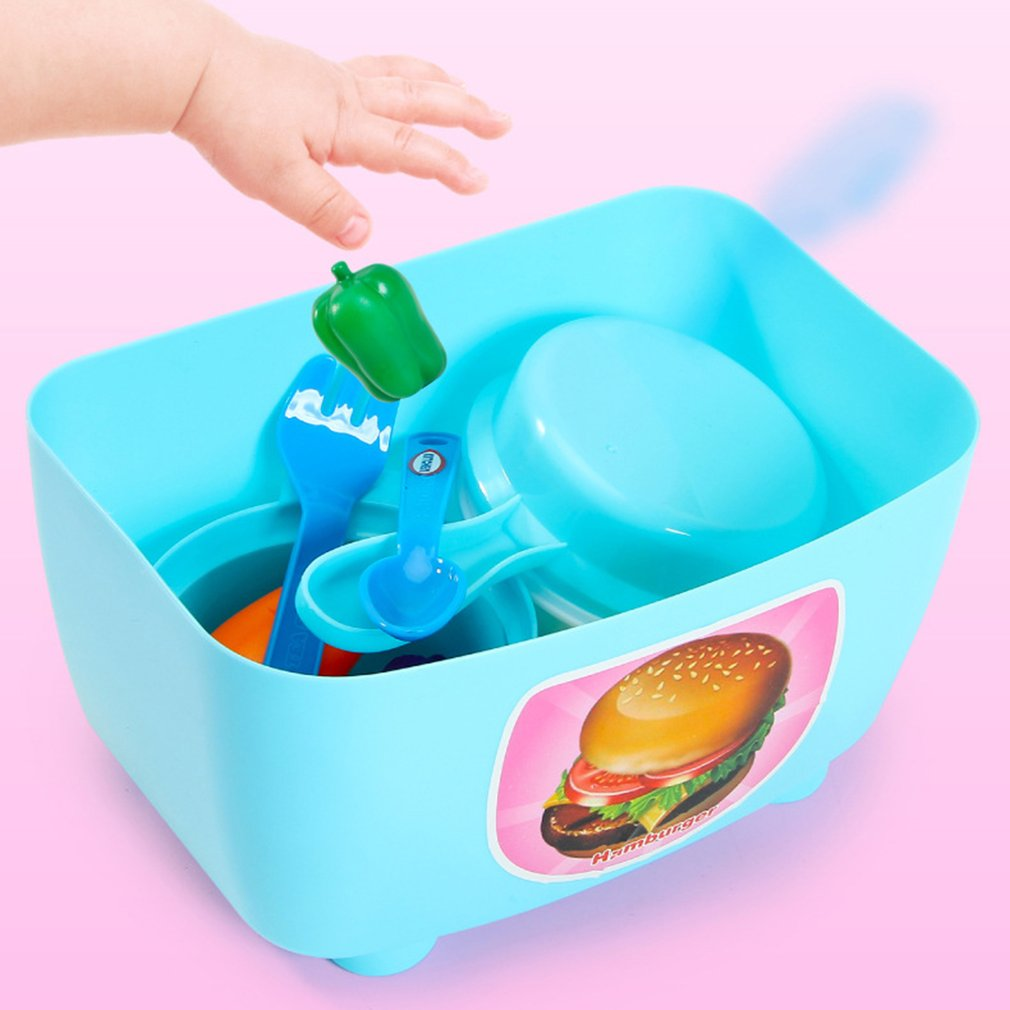 Children's Simulation Kitchen Kids Pretend Play Toys Utensils Kitchen Food Toys Set Early Educational Toys Cooking Tableware Set