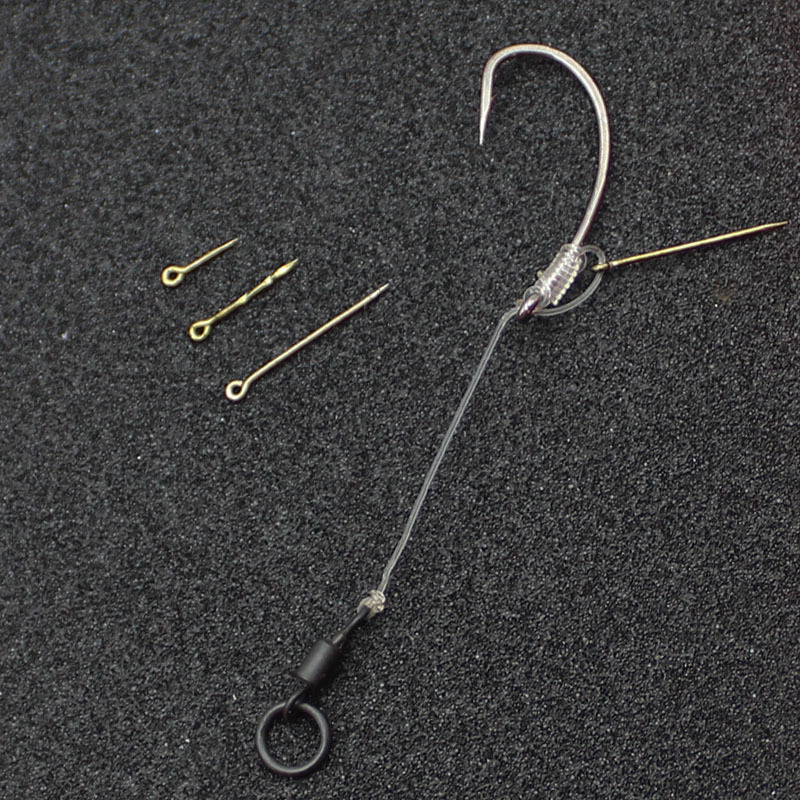 10PCS Screw With Ring Swivel D-Rig Chod Rig Terminal Tackle Bait Holder Scre.dr