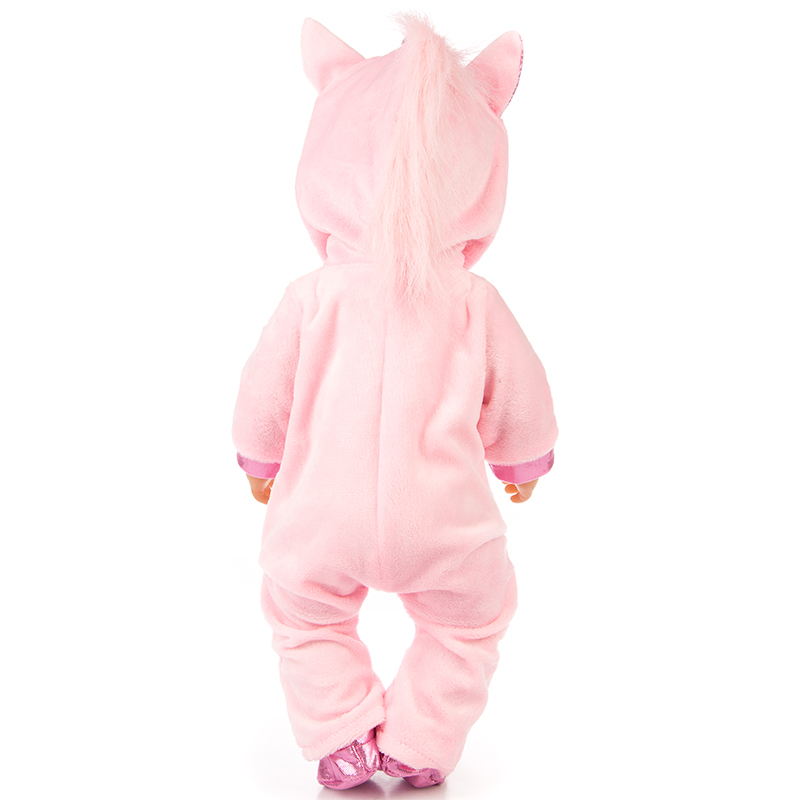 Doll Clothes for 17inch Reborn Baby Doll Clothes Unicorn Hoodie Coat Set Doll Animal Clothes Outfit Children Best Gift