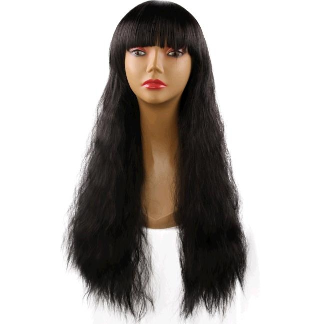 Costplay wig lady fashion shave fluffy corn curly hair wigs long