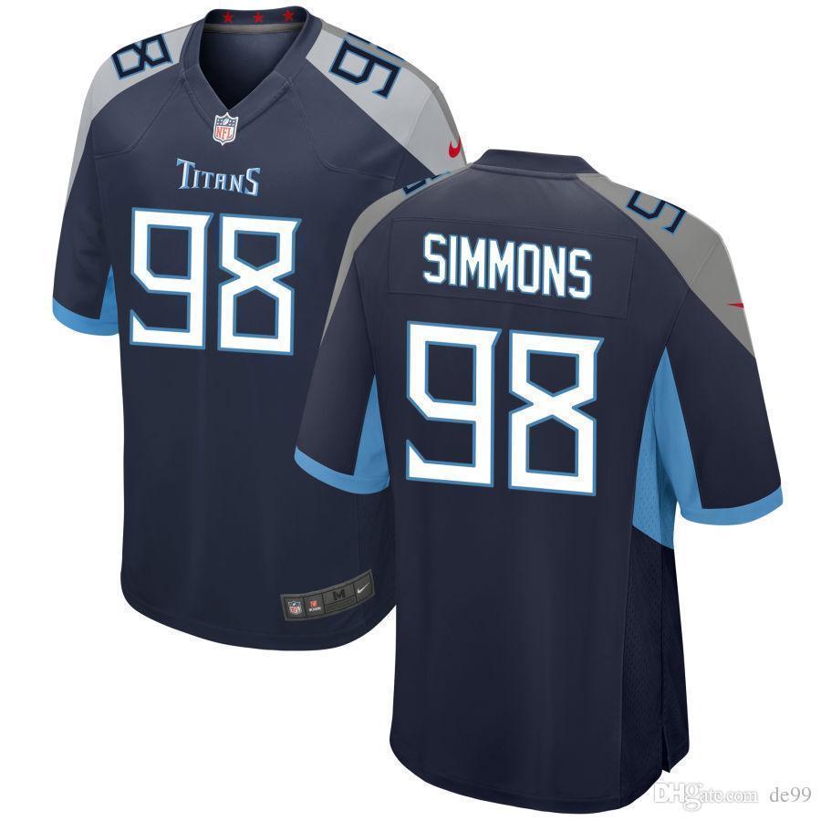 huge selection of bb543 3e8e9 2019 Jeffery Simmons Titans Jersey Marcus Mariota Adoree' Jackson Brian  Orakpo D'Andre Delanie Walker Custom American Football Jerseys Shirts 4x  From ...