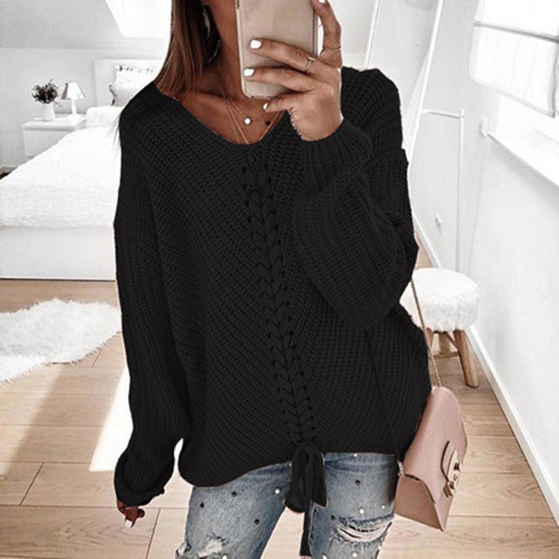 Plus size women pullover sweater spring autumn jumper women tops clothes casual loose fall knitted sweaters ladies 2019 DR897 (9)