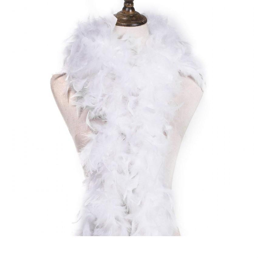 150cm FEATHER BOA Strip Fluffy Craft Costume Fancy Dress Wedding Party Red White