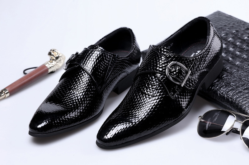 Sharp Snake England Enchanting2019 Tide Ephebe Business Affairs Correct Dress Shoes Ganado Charol Hasp Marry