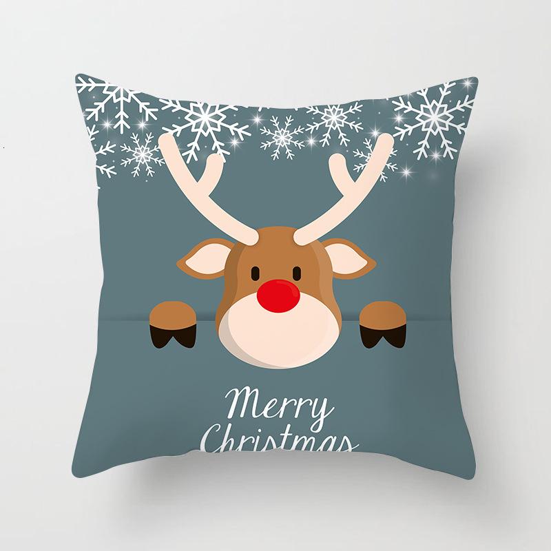1Pcs 4545 Cm Happy New Year Christmas Decorations for Home Cartoon Santa Claus Xmas Decorative Pillows Cover adornos navidad (10)