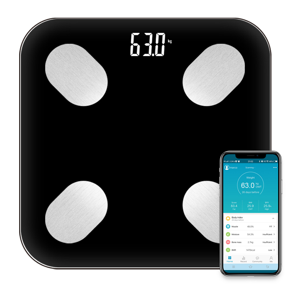 Sale Bathroom Scale Smart Scales Household Premium Support Bluetooth App Fat Percentage Digital Body Fat Weighing Scale P Gason