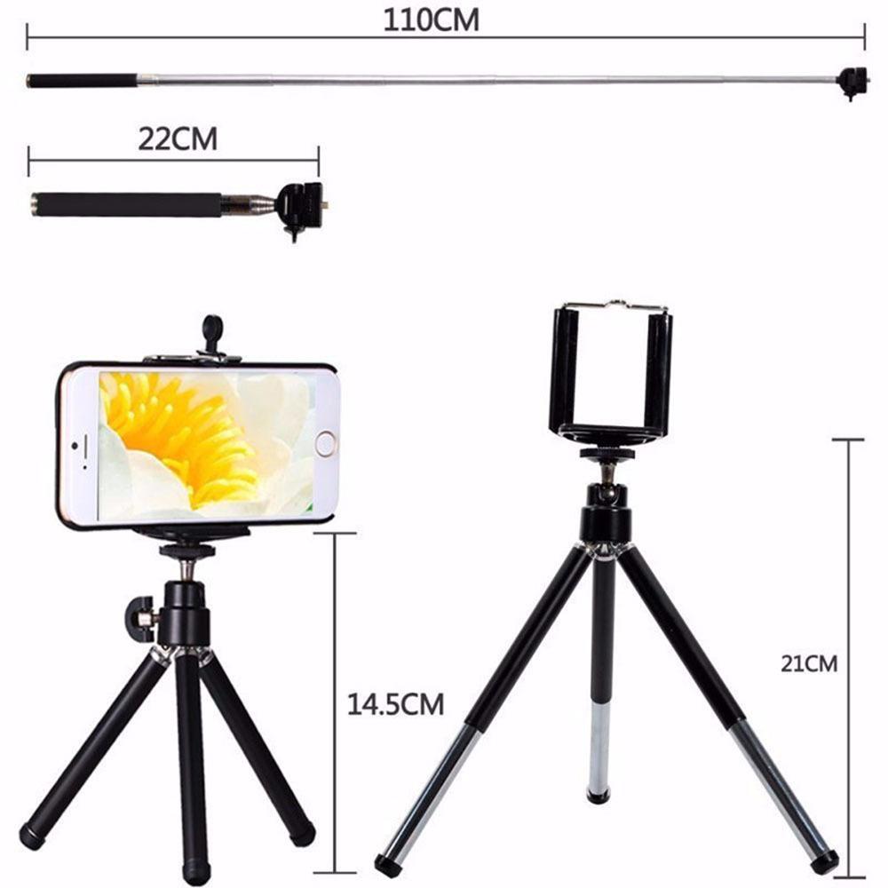 Kogngu Camera Kit 12x Zoom Lens For Smartphone Telescope Camera Lente Phone Telescope Fisheye Macro Lens Tripod Clip Bluetooth J190704