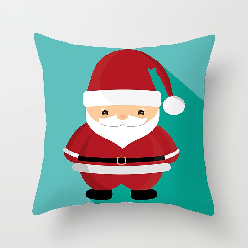 1Pcs 4545 Cm Happy New Year Christmas Decorations for Home Cartoon Santa Claus Xmas Decorative Pillows Cover adornos navidad (2)