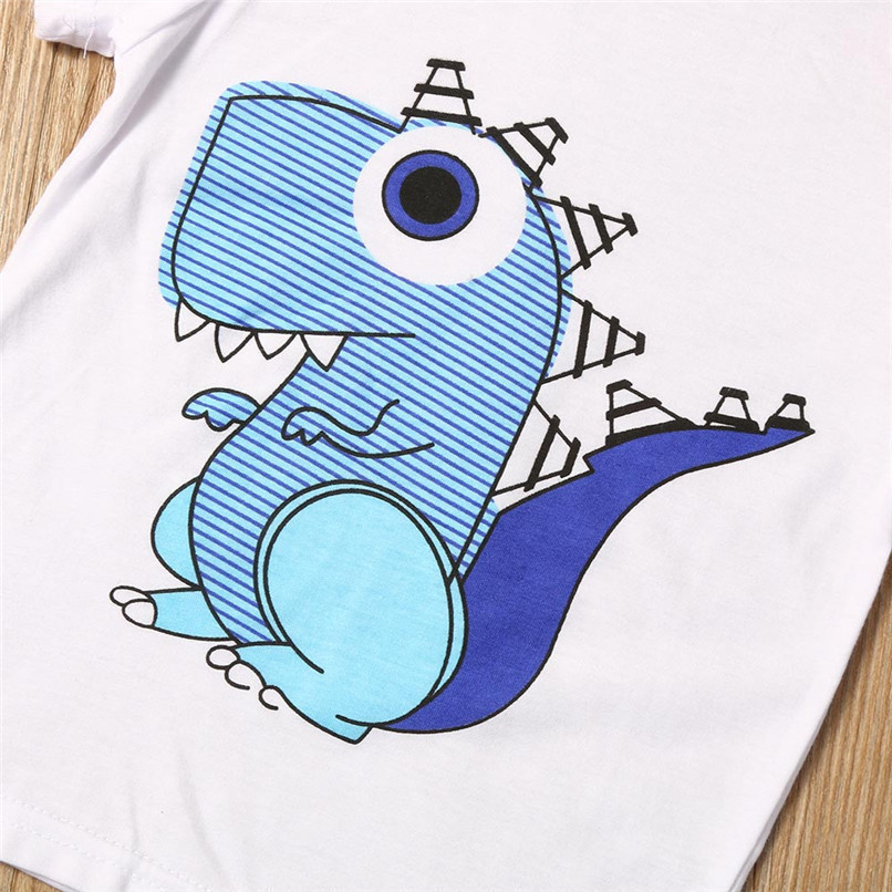 Summer Boys Clothes Toddler Kid Baby Boys Cartoon Printing T-shirt+Short Pants Clothes Outfits Set NDA84L18 (4)
