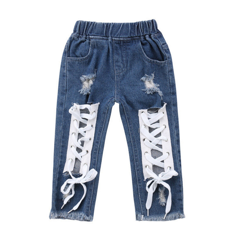 Ienens Kids Baby Boy Jeans Denim Vêtements Garçons Dessin Animé Pantalon Pantalon Long
