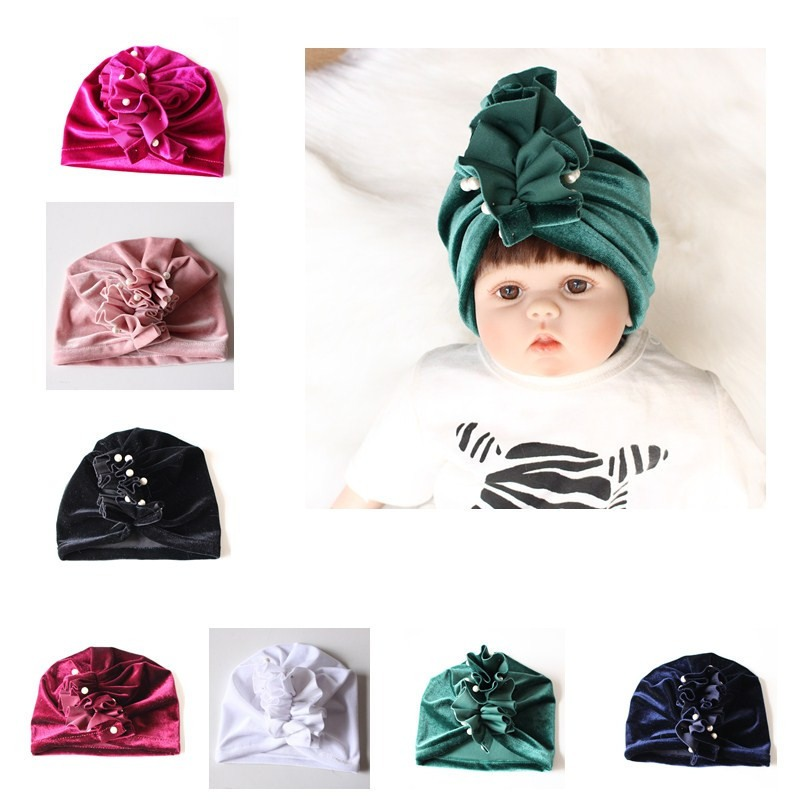 Efaster Newborn Baby Boy Girl Turban Cotton Beanie Hat Warm Cap Headband 0-6Years