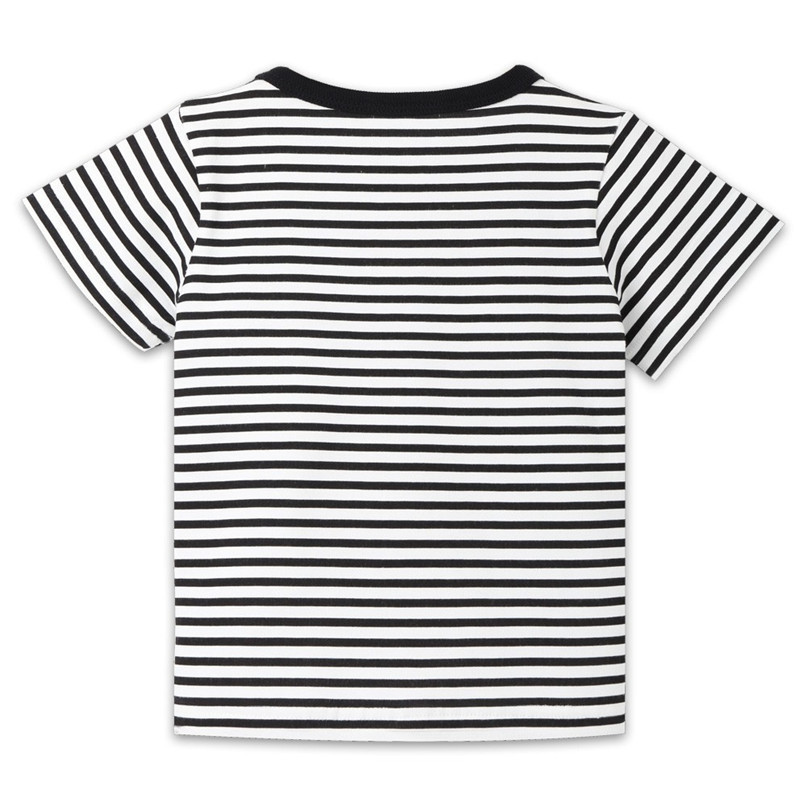 Summer Baby Boy Girl Tops And Tees Children Kids Boy Girl Short Sleeve Striped Top T-shirt Clothes Baby Boy Girl Clothes JE13#F (15)