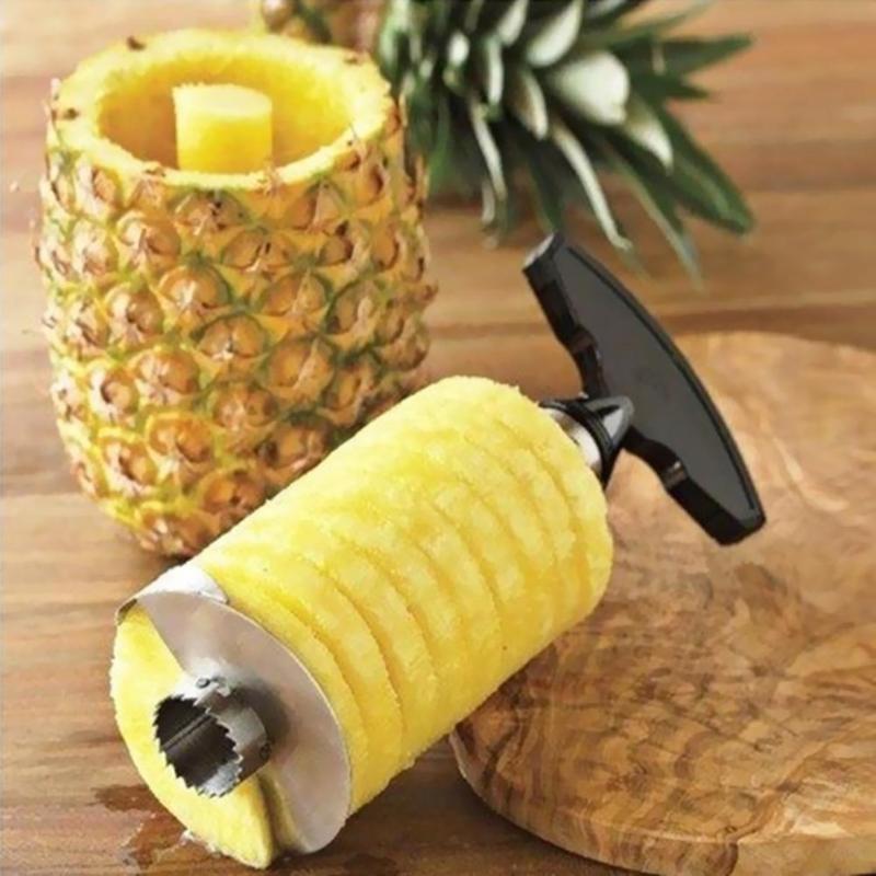 1 adet Paslanmaz Çelik Kullanımı Kolay Ananas Soyucu Aksesuarları Ananas Dilimleme Meyve Bıçağı Kesici Tart Dilimleme Mutfak Aletleri