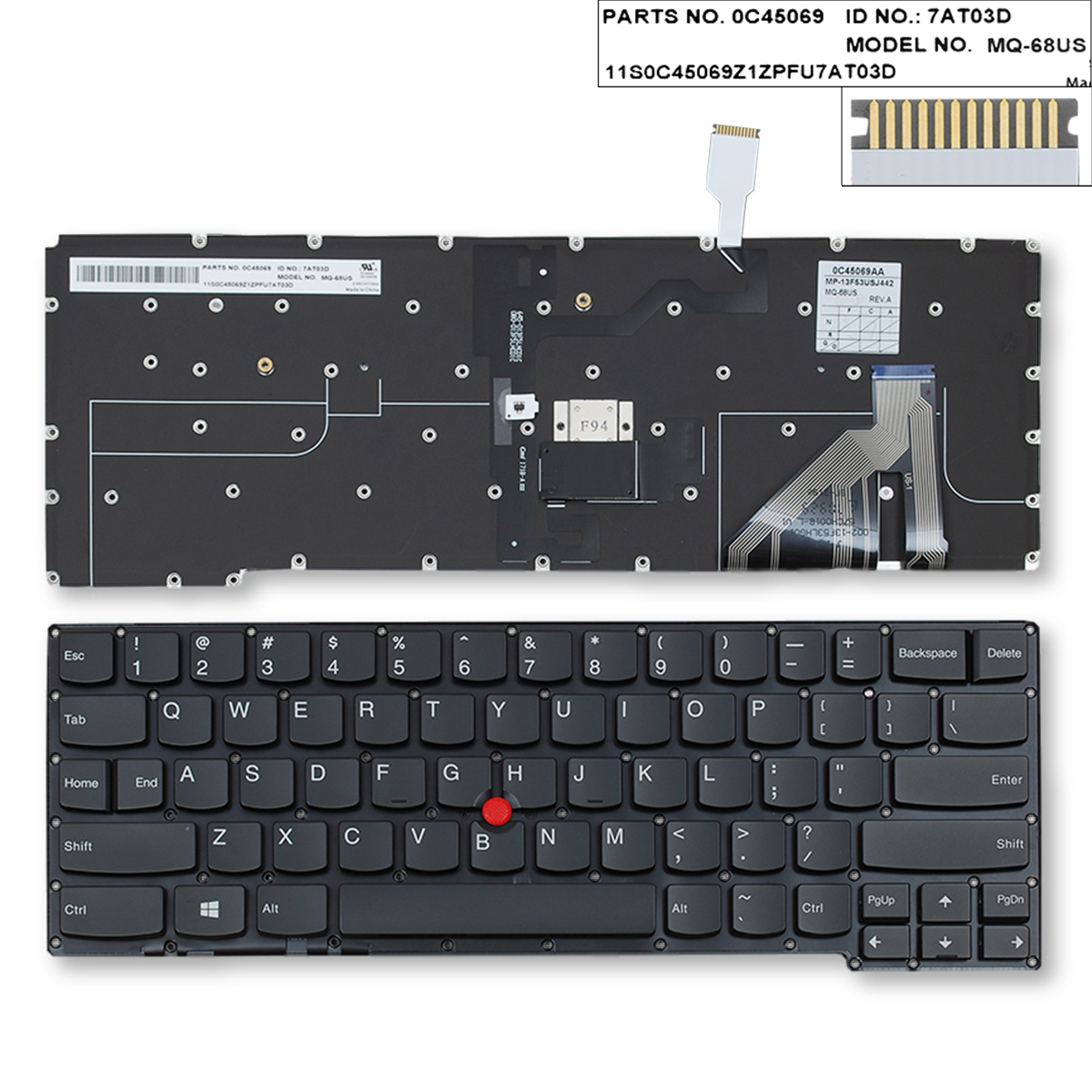 Type 20A7 20A8 Backlit UK Keyboard for Lenovo ThinkPad X1 Carbon 2nd Gen 2014