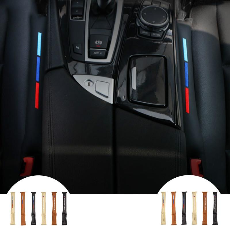 F-blue PU Cuir Auto Seat Gap Filler Slit Poche de Rangement Voiture Organisateur antifuite Catcher Bo/îte Slot Corbeille