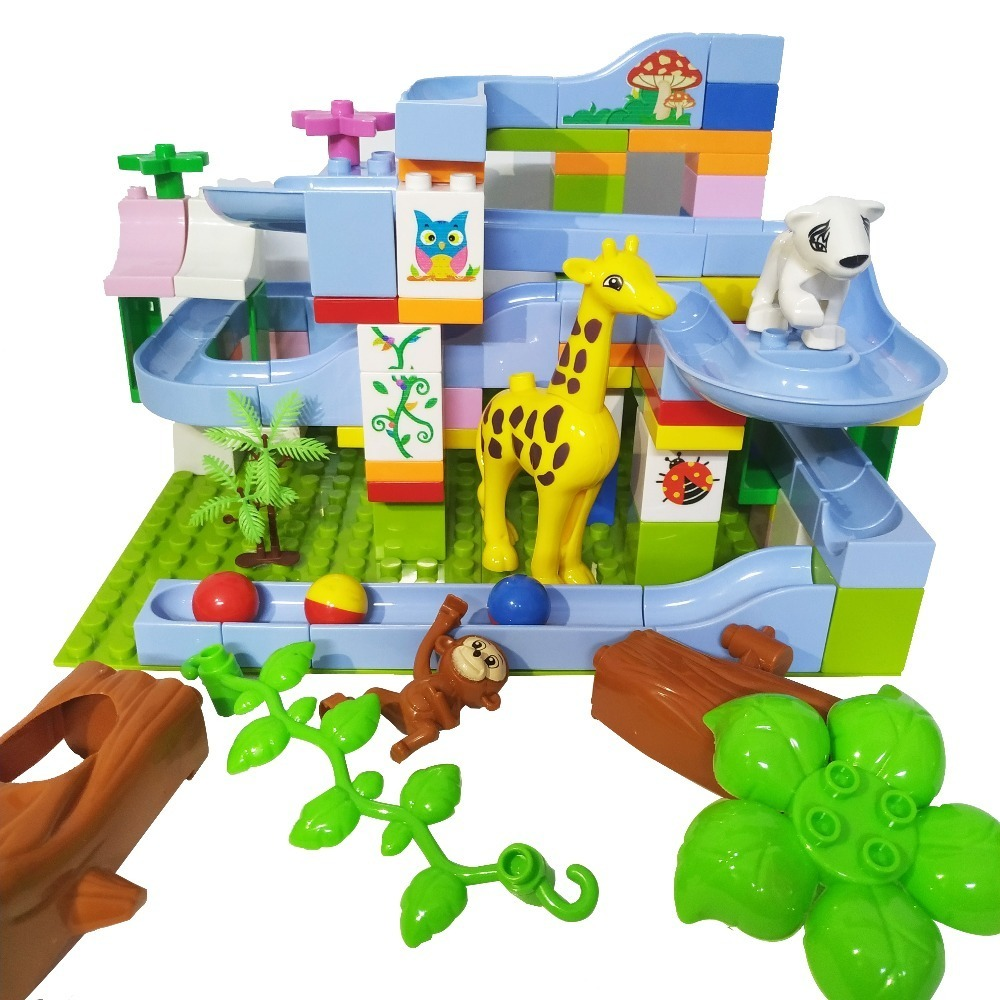 101-PCS-Marble-Race-Run-Slide-Brick-Maze-Ball-Track-Building-Block-Plastic-ABS-Compatible-Legoed