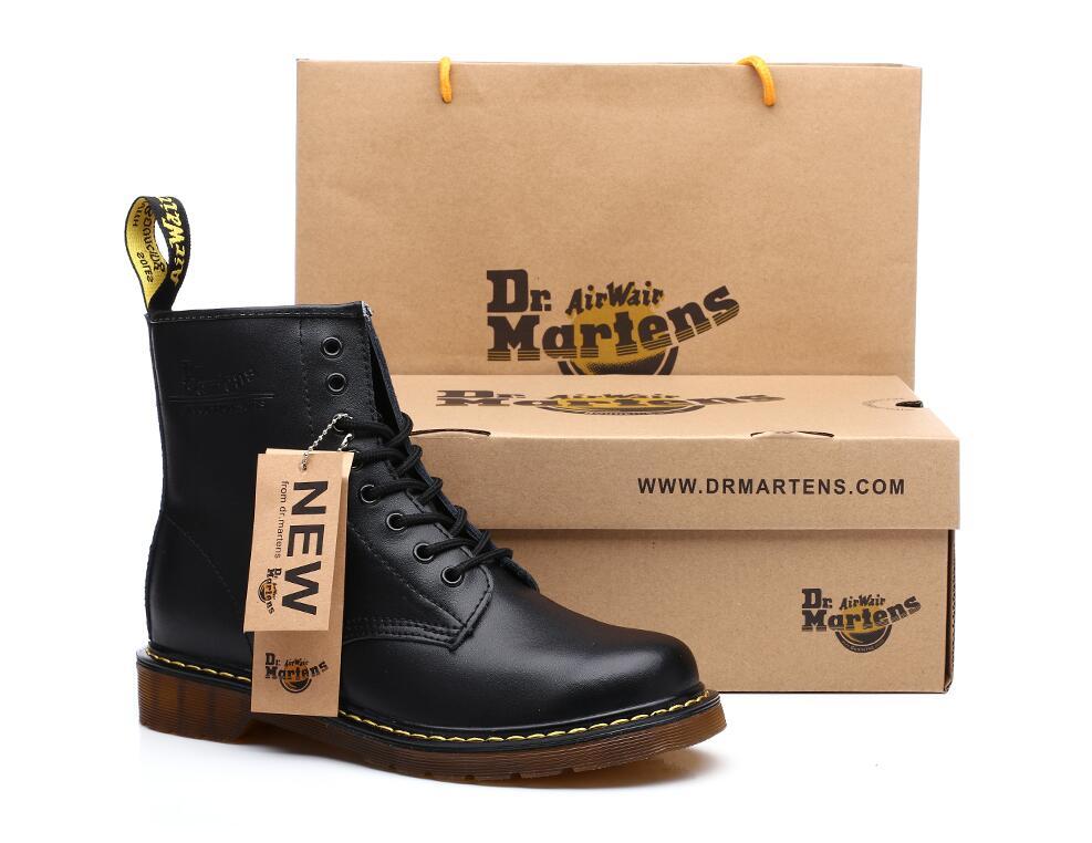 Men/'s Martin Bottes Cuir Femme Bottines Chaussures à lacets court bottes de cuir