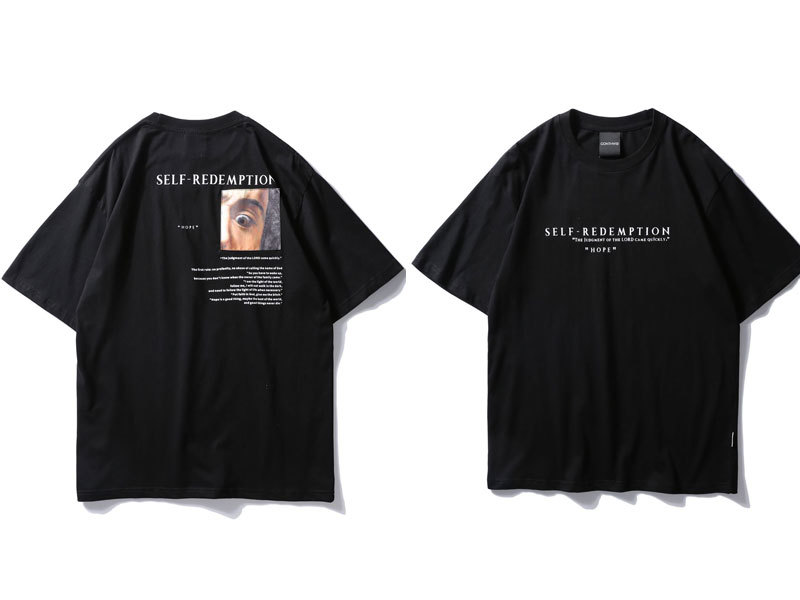 Self Redemption Patchwork Printed T-Shirt 4