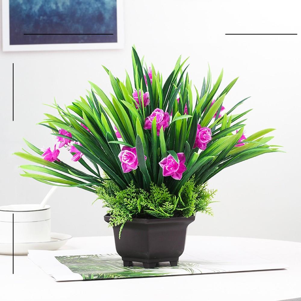 Gros Pot Fleur Plastique simulation intérieur orchidée plastique bonsai artificielle décoration  florale simulation fleur salon chambre décoration vente chaude potted