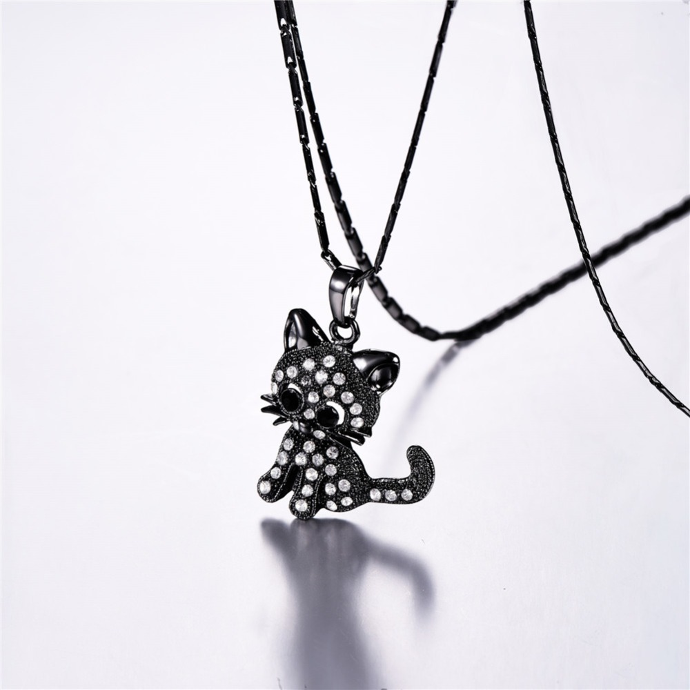 CS-DB Pendants Necklaces Silver Animal Crystal Dogs Paw and Bone Jewelry Girls