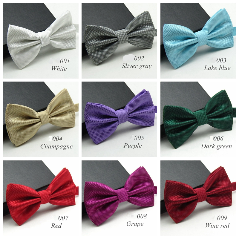 20 Colors Solid Fashion Bowties Men Colorful Chess Necktie Tie Bow Tie Male Marriage Bow Wedding Bow Ties