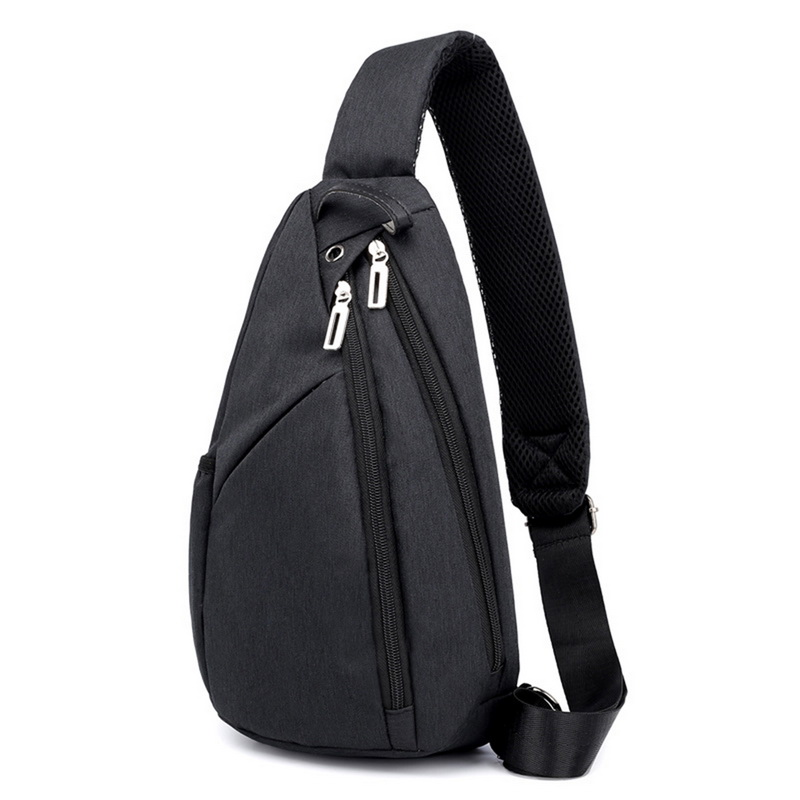Novos Sacos de Peito Unisex Casuais Fones de Ouvido Bolsa de Nylon Pacotes de Cintura Messenger Bag Adolescente Casual Simples