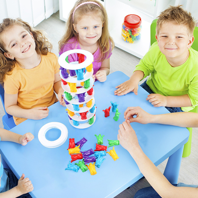 Children Toys Desktop Game Balance Toy Challenge Tower Stacked Parent-Child Interactive Board Game Intelligence Toys For Kids (8)